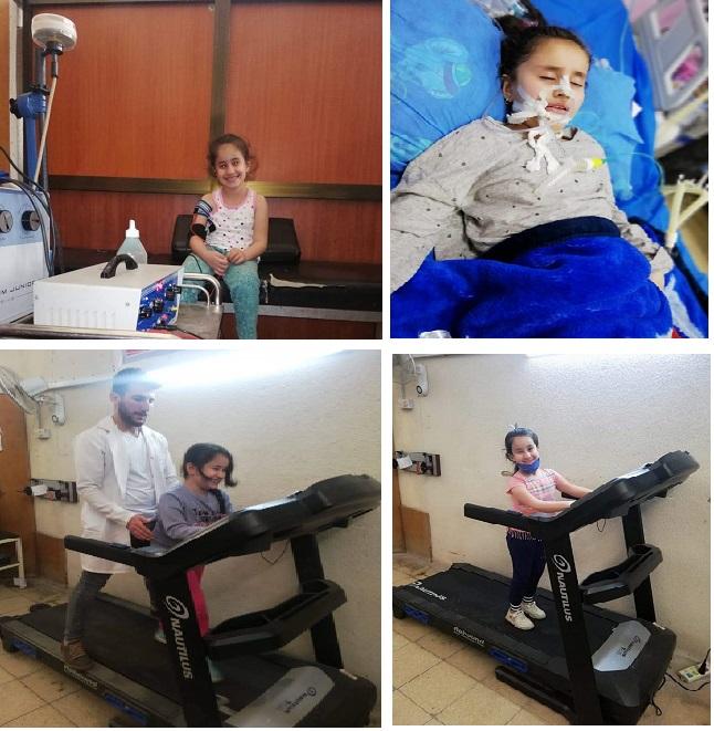 تأهيل طفلة تعاني من متلازمة التهاب الأعصاب المحيطية (Guillain Barre syndrome)