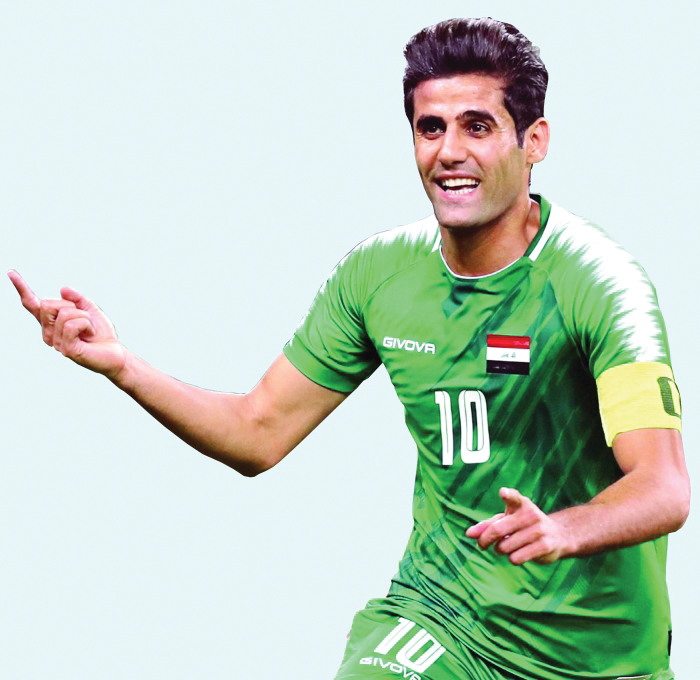 علاء عبد الزهرة خارج تشكيلة المنتخب بسبب الاصابة