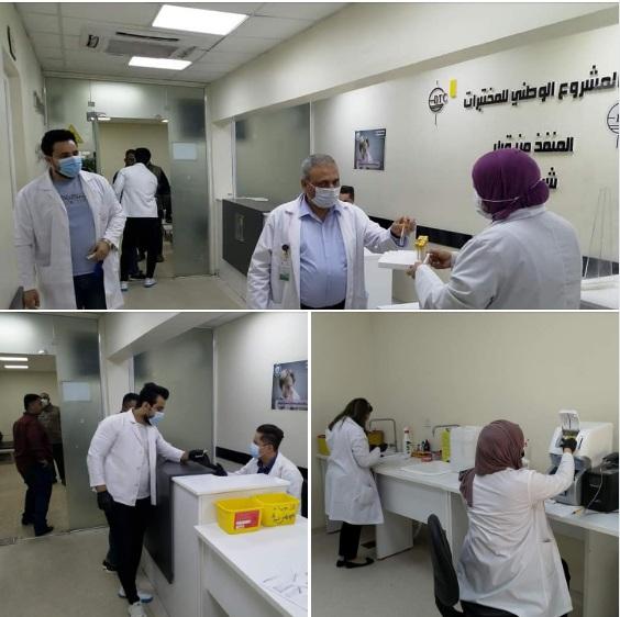 مختبرات مستشفى الكرامة التعليمي تواصل اجراءات اخذ المسحات و اجراء الفحوصات المختبرية للمشتبه باصابتهم بفيروس كورونا